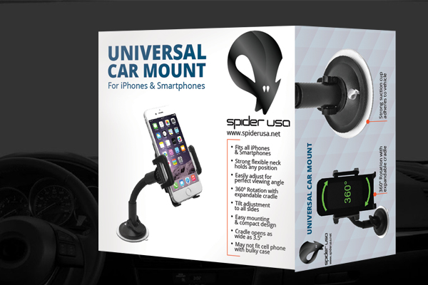 Car Mount Windshield or Dash Smartphone & GPS