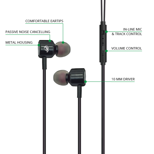 Jade  Series Earbuds Diagram